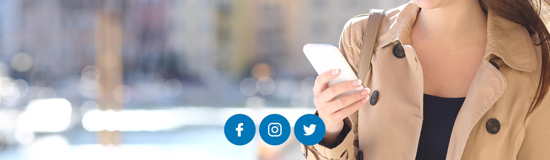 Síguenos en las redes sociales <br>Información instantánea